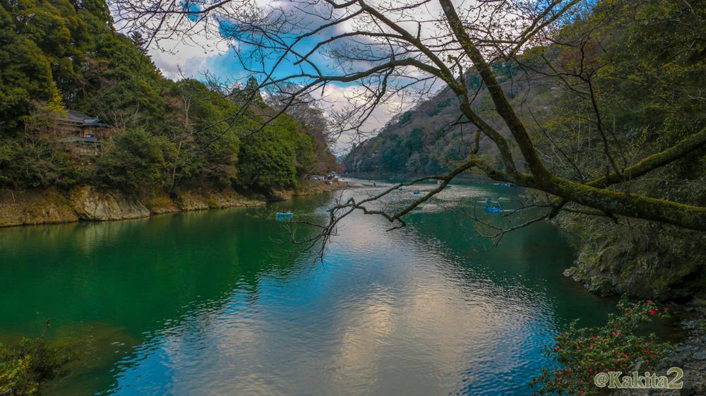 京都・嵐山の川
